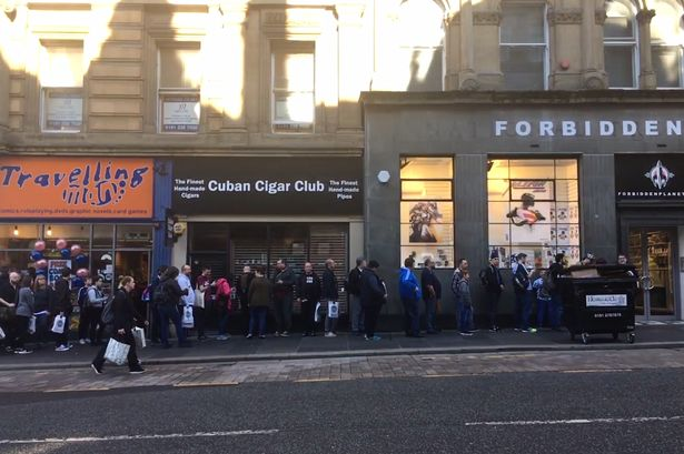 Why are people queuing in Newcastle this Saturday morning? You might want to join in!
