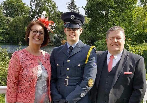 A palace party reward for air cadet