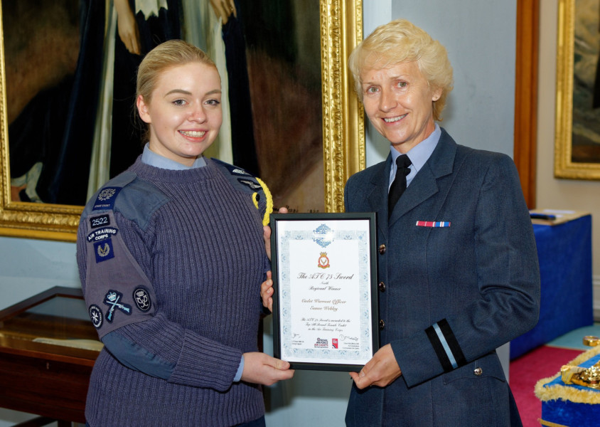 Bedlington air cadet flying high after award win
