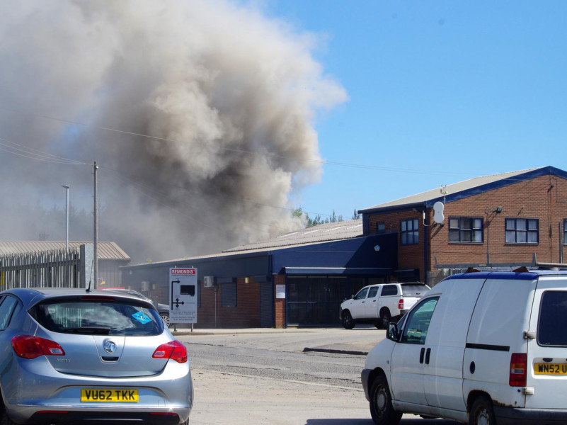 Fire breaks out at waste management site