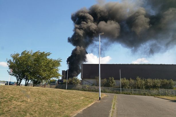 Smoke seen billowing across skyline as fire breaks out at Northumberland industrial estate