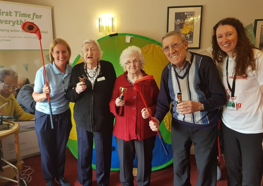 Bedlington care home gets into the swing of free activities