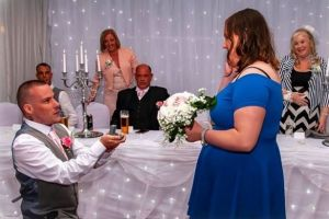 Read more about Watch the tear jerking moment brother surprises girlfriend by proposing - at his sister's wedding