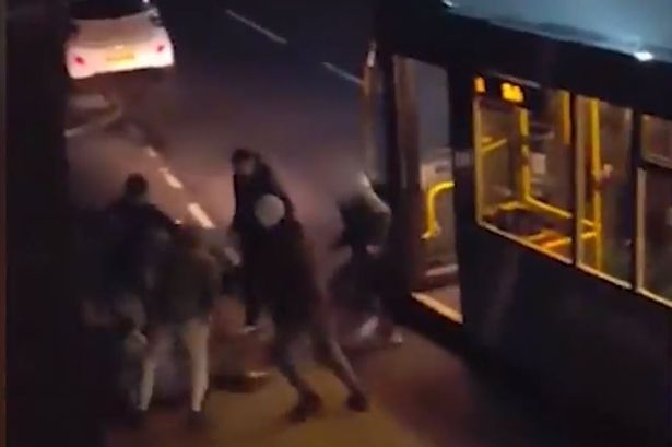 Sickening footage shows bus violence spill into street in shocking Bedlington gang fight