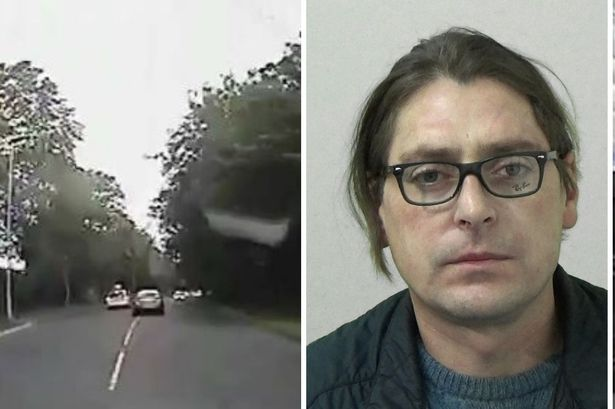 Danger driver narrowly avoided hitting pensioner during high speed police chase